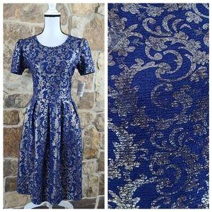 NWT Lularoe L LARGE Amelia Elegant Damask Dress